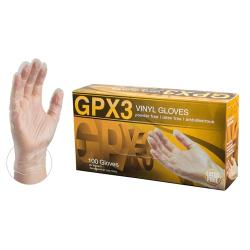 Ammex Corporation - GPX348100 - XL GPX3 Clear Vinyl Disposable Gloves image