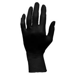 Hospeco - GL-N105FM - Medium Black Nitrile Gloves image