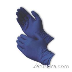 "PIP - 62-327PF/L - 12"" Blue Powder Free Medical Grade Latex Gloves (L) image"