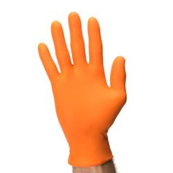 SureCare - NPFO6030 - Medium Powder Free Orange Nitrile Gloves image