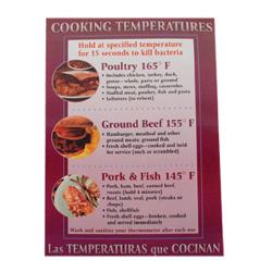 Commercial - Cooking Temperature Food Safety Poster image