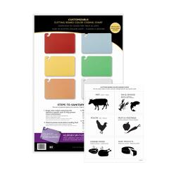 San Jamar - CBCWLCTST - Smart Chart for 6 Cutting Boards image