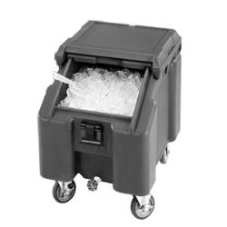 Cambro - ICS100L110 - 100 lb SlidingLid™ Black Slant Top Ice Caddy image