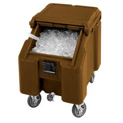 Cambro - ICS100L131 - 100 lb Dark Brown Slat Top Ice Caddy image
