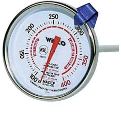 Winco - TMT-CDF2 - 100  - 400 F Candy/Fryer Thermometer  image