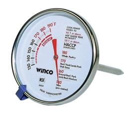 Winco - TMT-MT2 - 130  - 190 F Meat Thermometer image