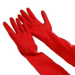 Commercial - 15 in Red Latex Gloves image