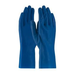 PIP - 47-L171B/L - Large 12 In Blue Latex Gloves w/ Grip  image