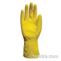 "PIP - 48-L140Y/S - 12"" Lined 14 mil Yellow Latex Gloves w/ Grip (S) image"