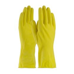PIP - 48-L160Y/L - Large 12 In Lined 16 mil Yellow Latex Gloves w/ Grip  image