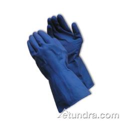 PIP - 48-L185B/L - Lined Blue Latex Gloves w/ Grip (L) image