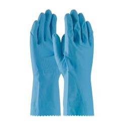 PIP - 48-L185B/M - Lined Blue Latex Gloves w/ Grip (M) image