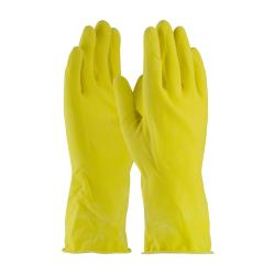 PIP - 48-L185Y/L - Large 12 In Lined 18 mil Yellow Latex Gloves w/ Grip image