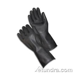 "PIP - 48-L300K/S - 13"" Lined Black Latex Gloves w/ Grip (S) image"