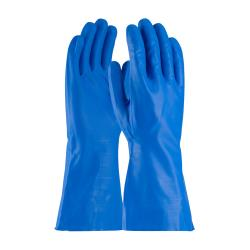 "PIP - 50-N160B/XL - 13"" Blue 16 mil Nitrile Gloves w/ Grip (XL) image"