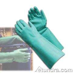 "PIP - 50-N2250G/L - 15"" Green Nitrile Gloves w/ Grip (L) image"