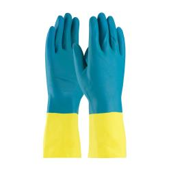 PIP - 52-3670/XXL - 12 in Yellow Latex Gloves w/ Blue Neoprene Coating (2XL) image