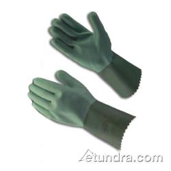 "PIP - 57-1812/L - 12"" Two-Tone Green Neoprene Coated Gloves (L) image"