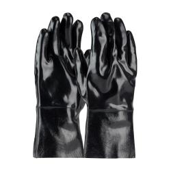 PIP - 57-8630 - Large 12 In Lined Black Neoprene Coated Gloves image