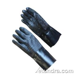 "PIP - 57-8630R - 12"" Lined Black Neoprene Coated Gloves w/ Grip (L) image"