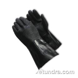 "PIP - 57-8640R - 14"" Lined Black Neoprene Coated Gloves w/ Grip (L) image"