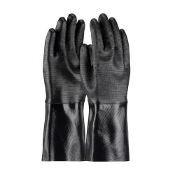 PIP - 57-8640R - Large 14 In Lined Black Neoprene Coated Gloves w/ Grip image