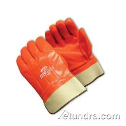 PIP - 58-7305 - ProCoat Orange PVC Coated Gloves w/ Safety Cuff image
