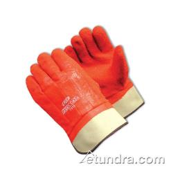 PIP - 58-7315 - ProCoat Orange PVC Coated Gloves w/ Safety Cuff And Grip (L) image