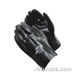 "PIP - 58-8020 - 10"" Lined Black PVC Coated Gloves (L) image"