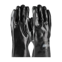 PIP - 58-8020 - Large 10 In Lined Black PVC Coated Gloves image