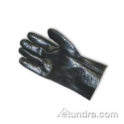 "PIP - 58-8020R - 10"" Lined Black PVC Coated Gloves w/ Grip (L) image"