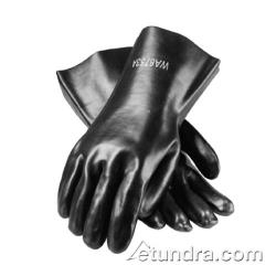 "PIP - 58-8030 - 12"" Lined Black PVC Coated Gloves (L) image"