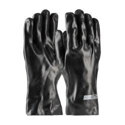 PIP - 58-8030 - Large 12 In Lined Black PVC Coated Gloves image