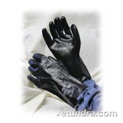 "PIP - 58-8030R - 12"" Lined Black PVC Coated Gloves w/ Grip (L) image"