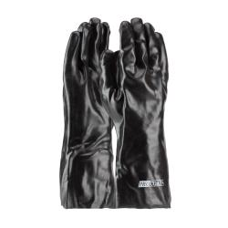 "PIP - 58-8040 - 14"" Lined Black PVC Coated Gloves (L) image"