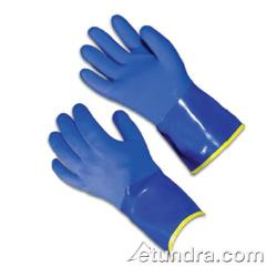 "PIP - 58-8658DL/L - 12"" Blue PVC Coated Gloves w/ Terry Cloth Liner (L) image"