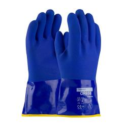 PIP - 58-8658DL/L - Large 12 In Blue PVC Coated Gloves w/ Terry Cloth Liner image