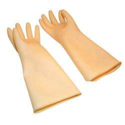 Winco - NLG-1018 - 10 in x 18 in Natural Latex Glove image