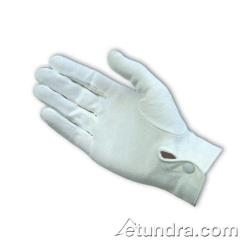 PIP - 130-150WM/S - White Cotton Dress Gloves w/ Wrist Snap (S) image