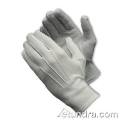 PIP - 130-600WM - Men's White Stretch Nylon Dress Gloves w/ Open Cuff (L) image