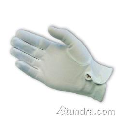 PIP - 130-650WM - Men's White Stretch Nylon Dress Gloves w/ Wrist Snap (L) image