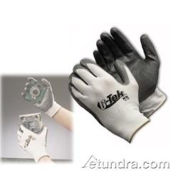 PIP - 34-225/S - G-Tek White Nylon Gloves w/ Nitrile Coating (S) image