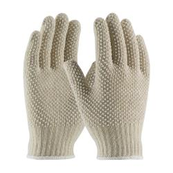 PIP - 36-110PDD-WT/L - White Cotton/Polyester Gloves w/ Dotted Coating (L) image