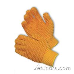 PIP - 39-3013/M - Orange Polyester Gloves w/ Criss Cross PVC Coating (M) image
