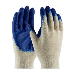 PIP - 39-C120/L - Blue Economy Grade Latex Coated Gloves (L) image