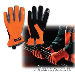 PIP - 120-4600/L - Viz Workman's Glove w/ Orange Spandex Back (L) image