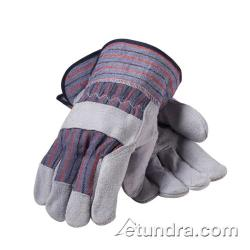 PIP - 85-7500P - Men's Split Leather Palm Gloves w/ Safety Cuff (L) image