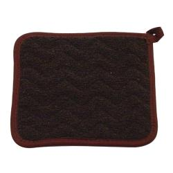 PDQ Textiles  - TPH-8 BROWN - 8 in x 8 in Terry Cloth Hot Pad image