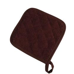San Jamar - 802TPH - Brown Terry Cloth Pot Holder image