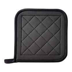 Winco - PH-8N - 8 in x 8 in Black Neoprene Pot Holder image